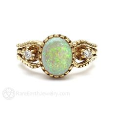 This old world opal ring: | 19 Stunning Vintage-Inspired Engagement Rings That'll Make You Swoon