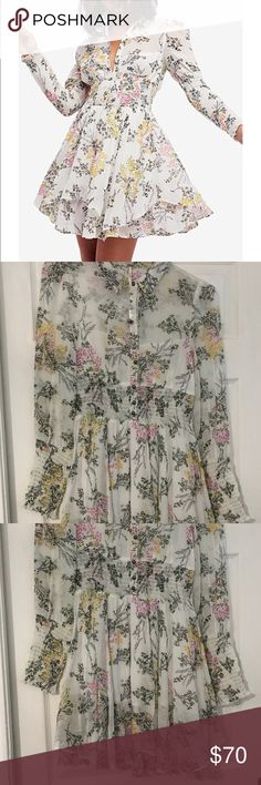 Free People Dress NWOT Long sleeve Free People Dress 🌸 NWOT, no flaws, in perfect condition! Free People Dresses Mini