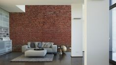 Architects Paper Fototapete Ziegel 7 470440; simuliert auf der Wand
