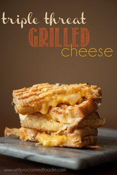 Do you have what it takes to eat the Triple Threat Grilled Cheese? #Parrano