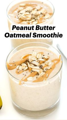 Gf Recipes, Healthy Recipes, Yummy Smoothie Recipes, Kitchen Witchery, Peanut Butter Oatmeal, Starbucks Recipes, Oatmeal Smoothies, Smoothie Bowl, Food Cravings