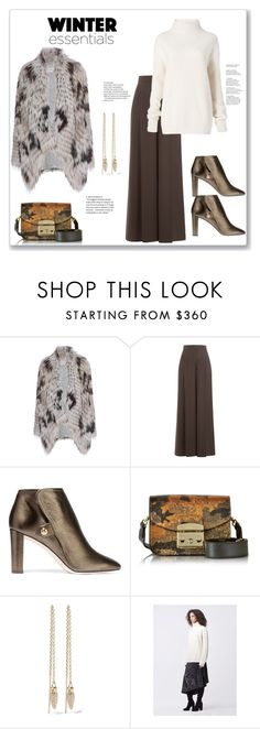 """Winter essentials"" by bv-b ❤ liked on Polyvore featuring Yves Salomon, Valentino, Jimmy Choo, Furla, Pamela Love and Diane Von Furstenberg"