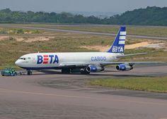BETA Cargo, Brazil, ended ops in 2012 - Boeing 707F freighter - via PJ de Jong
