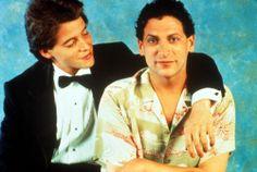 Matthew Broderick, Harvey Fierstein, 1988 | Essential Gay Themed Films To Watch, Torch Song Trilogy http://gay-themed-films.com/films-to-watch-torch-song-trilogy/