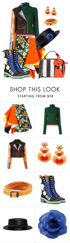 """Think Funky"" by glamourgrammy on Polyvore featuring MSGM, Haider Ackermann, Lele Sadoughi, Frye, Maison Margiela, Gigi Burris Millinery, Chanel and Milly"