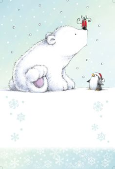 Cypress Fine Art Licensing - Chris Gaisey polar bear and penguin Art And Illustration, Pinguin Illustration, Illustration Mignonne, Christmas Illustration, Polar Bear Illustration, Christmas Drawing, Christmas Art, Winter Christmas, Xmas