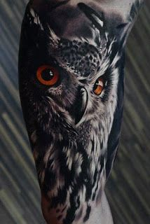 40 Realistic Owl Tattoo Designs for Men - Nocturnal Bird Ideas - Tattoos - Tatouage Natur Tattoos, Kunst Tattoos, Body Art Tattoos, Trendy Tattoos, Tattoos For Guys, Cool Tattoos, Tatoos, 3d Tattoos, Amazing Tattoos