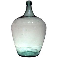 1stdibs | Large Blown Glass Demijohn 19th century