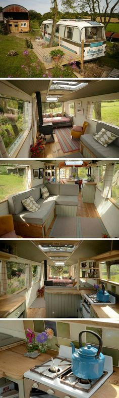 The Majestic Bus. A remodelled bus transformed into a cozy place to stay.: