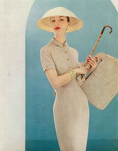Evelyn, March Vogue 1956. @Deidra Brocké Wallace