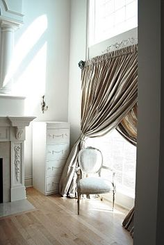 large criss cross curtains (for the patio door, to keep out major sunlight but still light the room!)