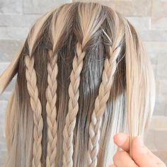 Cool Braid Hairstyles, Braided Hairstyles Tutorials, Bandana Hairstyles, Medium Hair Styles, Curly Hair Styles, Athletic Hairstyles, Viking Hair, Brown Blonde Hair, Braids For Long Hair