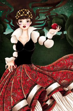 """Snowwhite"" by Tieneke Wolke--Ilike the art work on this one.cp"