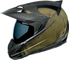 Icon Variant Battlescar Motorcycle Dual Sport Helmet Green