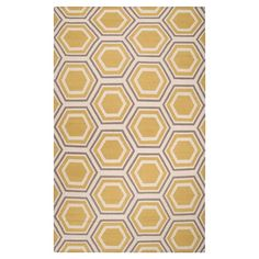 Flatweave wool rug with a hexagon motif. Handmade in India. 5X8 $250  Product: RugConstruction Material: 100% Wool