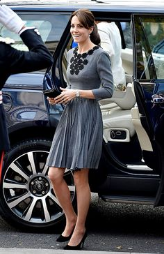 The morning after attending the glitzy Spectre premiere with her husband Prince William, the Duchess of Cambridge returned to royal duties carrying out two solo engagements in London