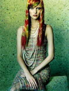Ruven Afanador - Photographer - the Fashion Spot Rainbow Photography, Pearl Love, Girl Inspiration, Character Inspiration, Rainbow Fashion, Black And White Prints, Dye My Hair, Color Of Life, Hair Today