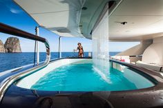 Quinta-Essentia aft deck with shower