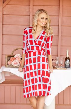 Rebecca Ruby Prism Wrap Dress - Womens Knee Length Dresses - For everything but the girl