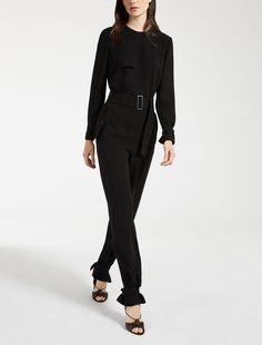 Max Mara OIDIO black: Cady jumpsuit.