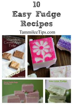 10 easy homemade fudge recipes