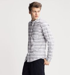 Hemd Regular Fit in blau / weiß
