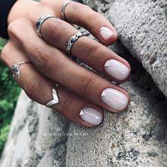 Nude Nails, Nail Manicure, Shellac Nails, White Nails, Nail Polish, Natural Nail Designs, Minimalist Nails, Clean Nails, Powder Nails