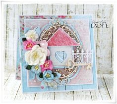 Scrap Art by Lady E: New Home Card - Wild Orchid crafts DT