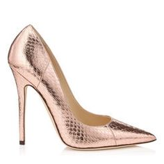 The Jimmy Choo pump is a true style icon. Browse the latest collection of pumps, high heels and platform shoes. Shop for designer pump shoes now. Pink Pumps, Pink Shoes, Women's Pumps, Shoes Heels, Metallic Look, Metallic Pumps, Pointed Toe Pumps, Stiletto Heels, High Heels