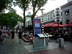 Faneuil Hall, Boston MA: http://visitingnewengland.com/fanueil-hall.html #faneuilhall #boston