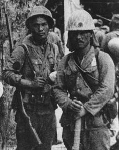 Rikusentai .Japanese marines in a break.