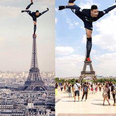 Julian #Draxler in Paris angekommen wagt einen Tanz auf dem Turm...  #bolzplatzhelden #psg #juliandraxler  @fums_magazin