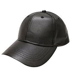 City Hunter Lc100 Plain Leather Cap (10 Colors) (Black) at Amazon Men s aa4256b3792