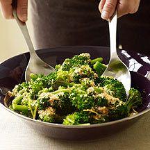 Broccoli w/ Lemon-Garlic Crumbs