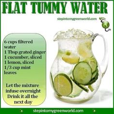 A healthy water recipe from stepintomygreenworld.com