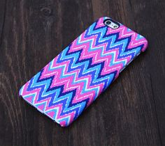 Abstract Pink and Blue Chevron Design iPhone 6 Case/Plus/5S/5C/5/4S Case – Acyc