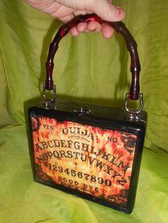 Posessed Ouija board cigar box purse hand made by Secretia Noxious  http://www.etsy.com/shop/NOXIOUSPUNX