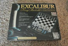 NEW Excalibur King Master III Electronic 2 in 1 Chess Checker Game Board