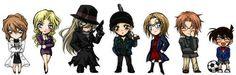 Detective Conan Chibi | We Heart It | gin, vermouth, and edogawa conan