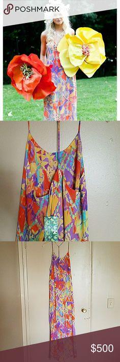 Show me your mumu dress . T-Rex . Dakota fanny print. Brand new with tags.Trades Show Me Your MuMu Dresses Maxi