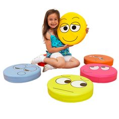 Emotions Floor Cushions - Pack 1, Single-Sided - Set of 6 at SCHOOLSin