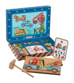 Djeco Vehicles Tap Tap Multicoloured `One size Details : Assemble the pieces on . Djeco Vehicles T Kid Picks, Wooden Shapes, Toys Online, Uk Online, Toys Shop, Wood Toys, Fine Motor Skills, Gifts For Boys, Shopping