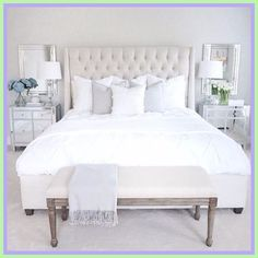 master bedroom furniture white-#master #bedroom #furniture #white Please Click Link To Find More Reference,,, ENJOY!! White Bedroom Decor, White Bedroom Furniture, Cozy Bedroom, Bedroom Colors, Home Decor Bedroom, Bedroom Ideas, Sofa Furniture, Furniture Design, Mirror Furniture