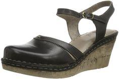 Manitu 920191, Damen Slingback Sandalen mit Keilabsatz, Schwarz (Schwarz), 39 EU - http://on-line-kaufen.de/manitu/39-eu-manitu-920191-damen-slingback-sandalen-mit
