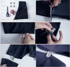 DIY Refashion Sexy Suspender Tights DIY Sexy leggings  http://interestingfor.me/diy-refashion-sexy-suspender-tights/ Many others DIY projects