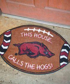 Loving this Arkansas Razorbacks Football Doormat on #zulily! #zulilyfinds
