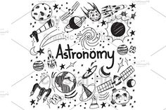 Space And Astronomy Astronomy science theory and drawing doodle handwriting icon of star planet and space transportation in white isolated background used for school education and document decoration, create by vector - Astronomy Science, Space And Astronomy, Astronomy Quotes, Astronomy Tattoo, Astronomy Facts, Astronomy Pictures, Doodle Drawings, Doodle Art, Doodle Ideas