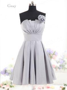 Gray Grey Bridesmaid Dress | $64 | eBay | wedding ceremony reception bridesmaids maid of honor