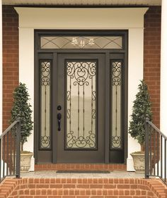 """Belle Meade"" decorative door glass. Swirls of wrought iron give your home old-world charm and a perfect pairing of elegant and rustic. Get more inspiration at Zabitat.com"