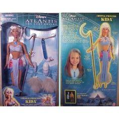 Mattel Disney Atlantis The Lost Empire Kida Doll 2000 Disney Princess Dolls, Disney Dolls, Princess Kida, Kida Atlantis, Atlantis The Lost Empire, Childhood Memories 90s, Porcelain Dolls Value, Best Kids Toys, Barbie World